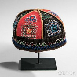 Northeast Beaded Cloth Cap