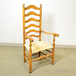 Wallace Nutting Turned Maple Ladder-back Chair