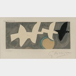 After Georges Braque (French, 1882-1963)      Quatre oiseaux