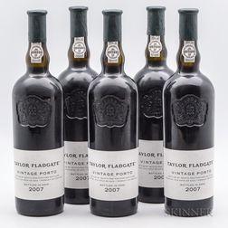 Taylor Fladgate Vintage Port 2007, 5 bottles