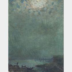 Arthur Clifton Goodwin (American, 1866-1929)      Harbor Nocturne
