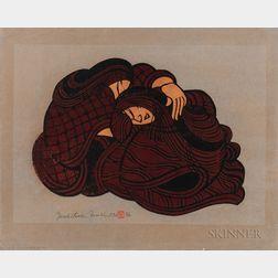 Yoshitoshi Mori (1898-1992), Two Stencil Prints