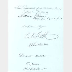Rare and Interesting Autograph Album of the United States Government of 1851