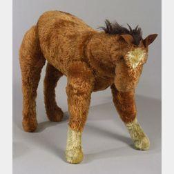 """Steiff Rust-Color Mohair """"Charley"""" Horse"""