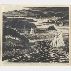 Carroll Thayer Berry (American, 1886-1978)    Islesboro - Maine Coast - Cradle Cove (No. 1)