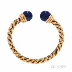 14kt Gold and Lapis Bracelet