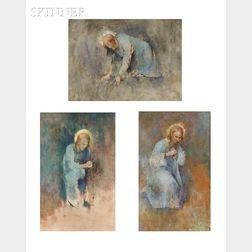 Emil (Soren Emil) Carlsen (American, 1848-1932)      Three Works: Studies for O Ye of Little Faith