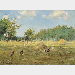 Henry Hobart Nichols, Jr. (American, 1869-1962)      The Chicken Patch