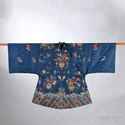 Embroidered Silk Semiformal Lady's Robe