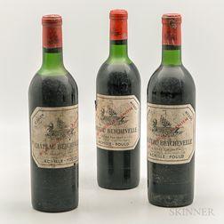 Chateau Beychevelle 1967, 3 bottles