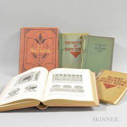 Two Volumes of Appletons' Art Journal   and Three Elbert Hubbard Books.     Estimate $50-75