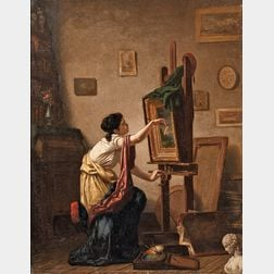 William Penn Morgan (American, 1826-1900)      Painting Rainbows