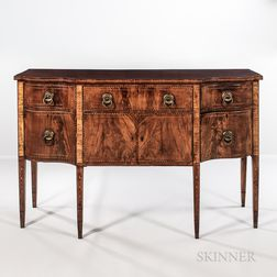 Federal Mahogany and Mahogany Veneer Inlaid Sideboard