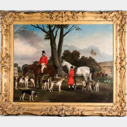Richard Barrett Davis (British, 1782-1854)      Thomas Assheton Smith and his Hounds