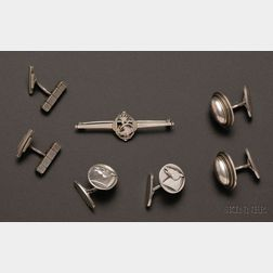 Three Pairs of Georg Jensen Cuff Links and a Pin