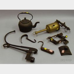 Six Metal Hearth and Domestic Items