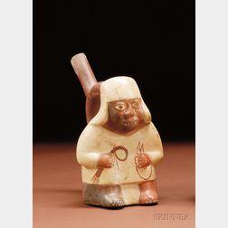 Pre-Columbian Stirrup-spout Pottery Vessel