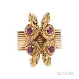 18kt Gold and Ruby Ring, Lalaounis