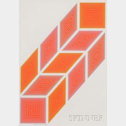 Richard Joseph Anuszkiewicz (American, b. 1930)      Untitled [Diamonds].