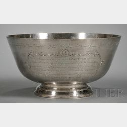 Reproduction Paul Revere Sterling Silver Punch Bowl