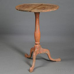 Federal Salmon-painted Hard Pine Candlestand