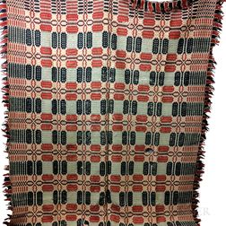 Three Woven Overshot Coverlets