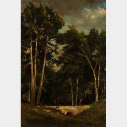 American School, 19th Century      Trees by a Stream