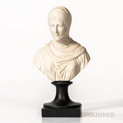 Non-period, Non-factory White Jasper Bust of Aristophanes