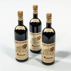 Giacomo Conterno Barolo Monfortino Riserva 1999, 3 bottles