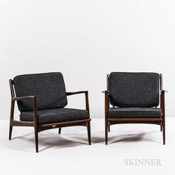 Two Ib Kofod-Larsen (Danish, 1921-2003) for Selig Spear Lounge Chairs