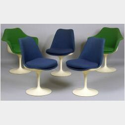 "Eight Mid-Century Modern ""Tulip"" Chairs"