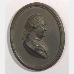 Wedgwood and Bentley Black Basalt Portrait Medallion of Viscount Augustus Keppel