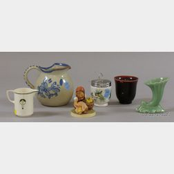 Six Assorted Pottery and Porcelain Table Items
