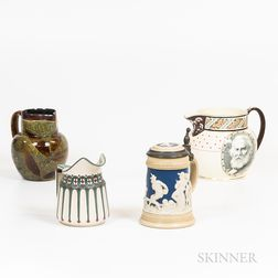 Two Pitchers, a Creamer, and a Stein