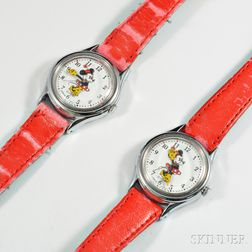 Two Lady's Minnie Mouse Wristwatches