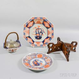 Three Imari Porcelain Items