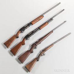 Two 12-gauge Shotguns and Two .22 Caliber Rifles