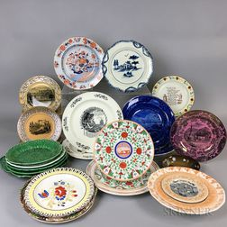 Thirty English Ceramic Plates