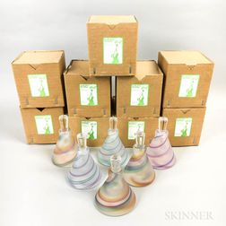 Twenty-five Cowdy Glass Workshop Short Scent Bottles