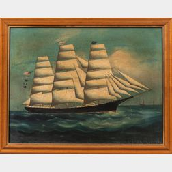 Chinese School, 19th Century      Portrait of a Clipper Ship
