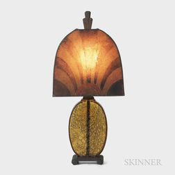 Art Deco Table Lamp with Mica Shade
