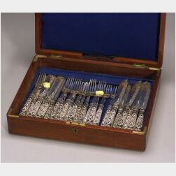 British Silver Plated Fish Flatware Service for Twelve