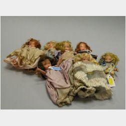 Seven Bisque Nancy Ann Storybook Dolls