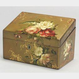Jennens & Bettridge Painted Papier Mache Letter Box
