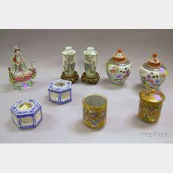 Nine Assorted Asian Porcelain Items