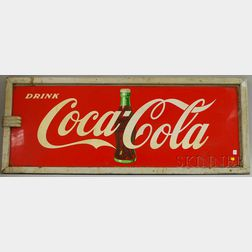 Drink Coca-Cola Painted Advertising Metal Sign