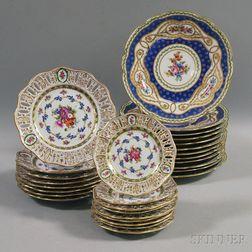 Twenty-nine Continental Porcelain Plates