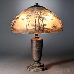 Handel Reverse-painted Table Lamp