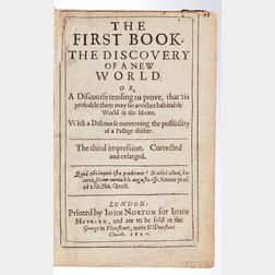 Wilkins, John (1614-1672) The First Book. The Discovery of a New World.