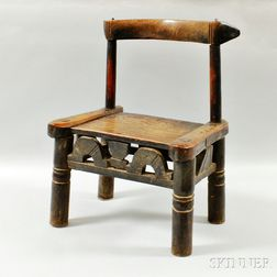 African Carved Wood Chair